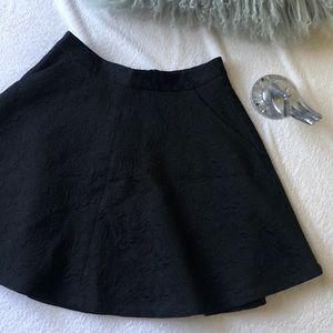 Topshop Brocade Swing Skirt